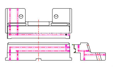 cooling line in sliders of plastic injection mold