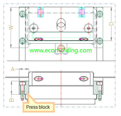 Press blocks for slider