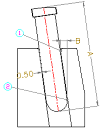 angle guide pin for sliders