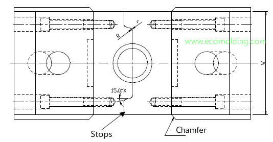 Injection Mold Slider Stops