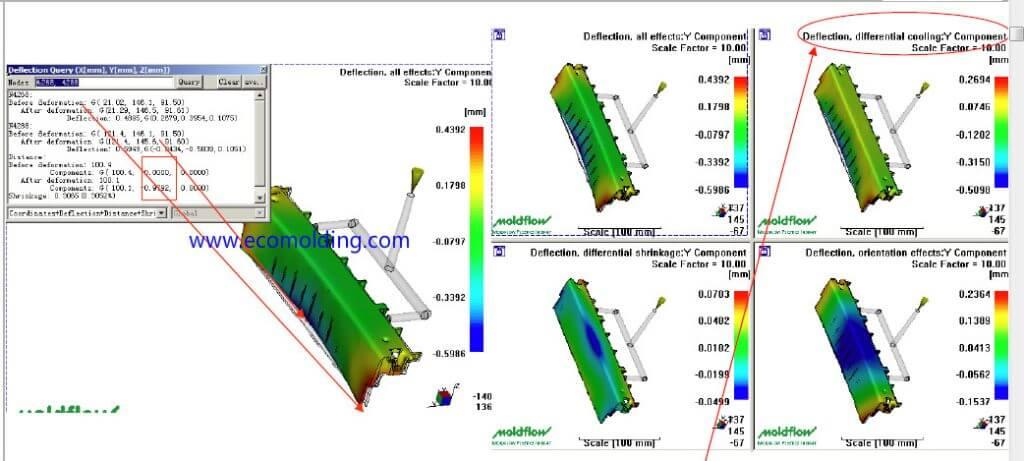 cooling factors for warpage