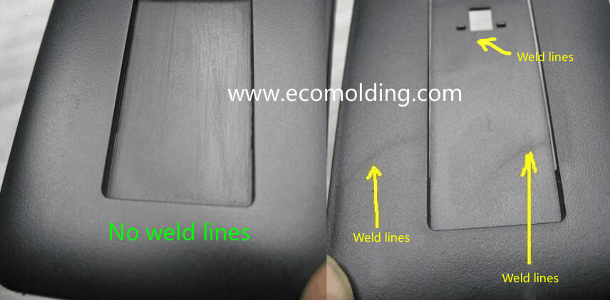 weld lines plastic injection molding defects